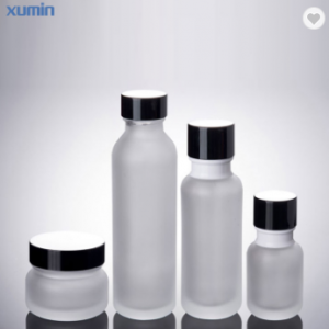 wholesale glass bottle 50ml 110ml 150ml cosmetic glass lotion pump bottle