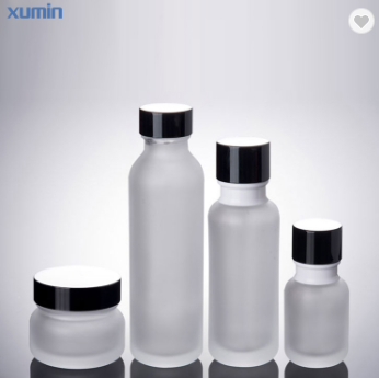 wholesale glass bottle 50ml 110ml 150ml cosmetic glass lotion pump bottle Featured Image