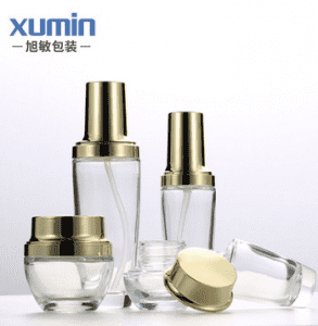 Glass cosmetic set  20g 30g 50g cream jar 30ml dropper bottle 30ml 50ml 100ml lotion bottle