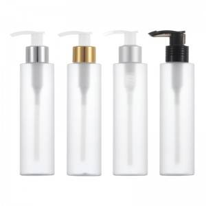 Multi style long nozzle pump head frosted bottle 150ml lotion bottle with pump cosmetic plastic bottle