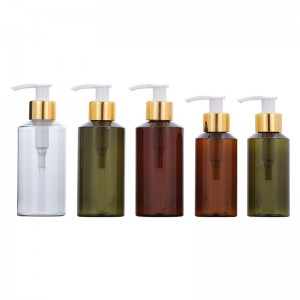 Made in china Green and Brown 100ML lotion bottle 150ML transparent plastic cosmetic packaging