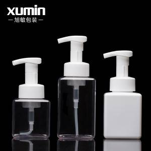 white Square 250ml 300ml 450ml clear PETG Plastic Foamer Pump Dispenser Bottles