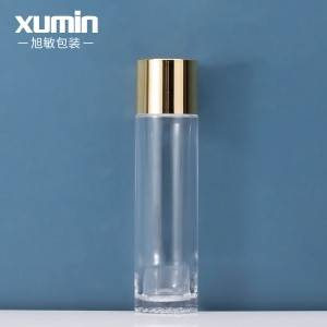 Wholesale cosmetic packaging glass toner bottle for 120ml glass bottle
