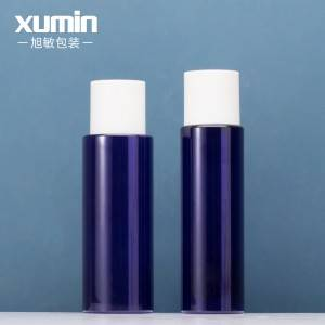 Wholesale cosmetics packaging blue 250ml plastic toner bottle for 200ml  plastic bottles