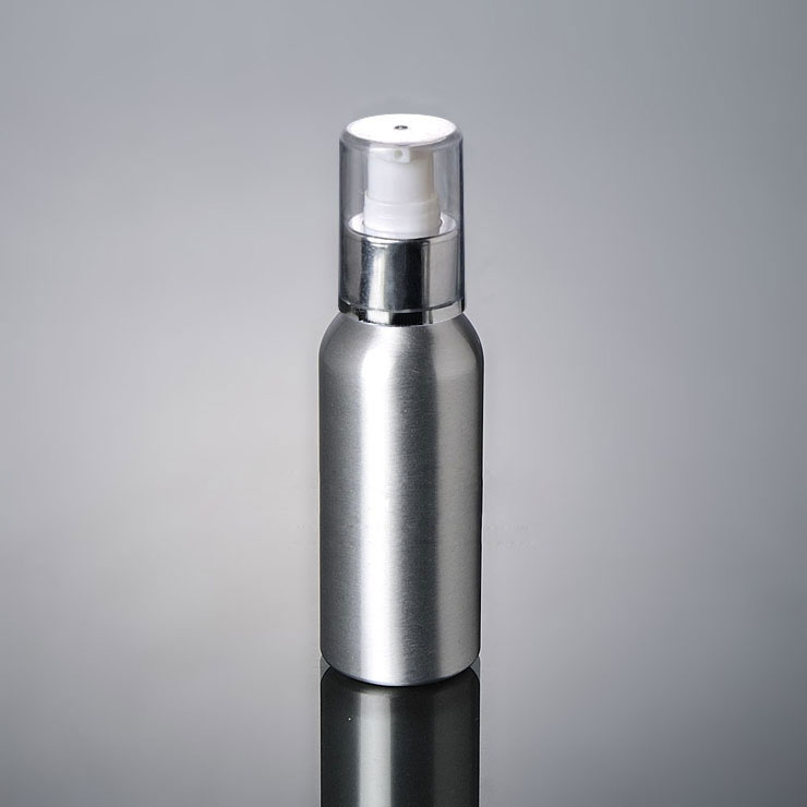 High Performance Press Mercury Bottle Customized Round 30 ml – 120 ml Lotion Pump Cosmetic Aluminum Bottle
