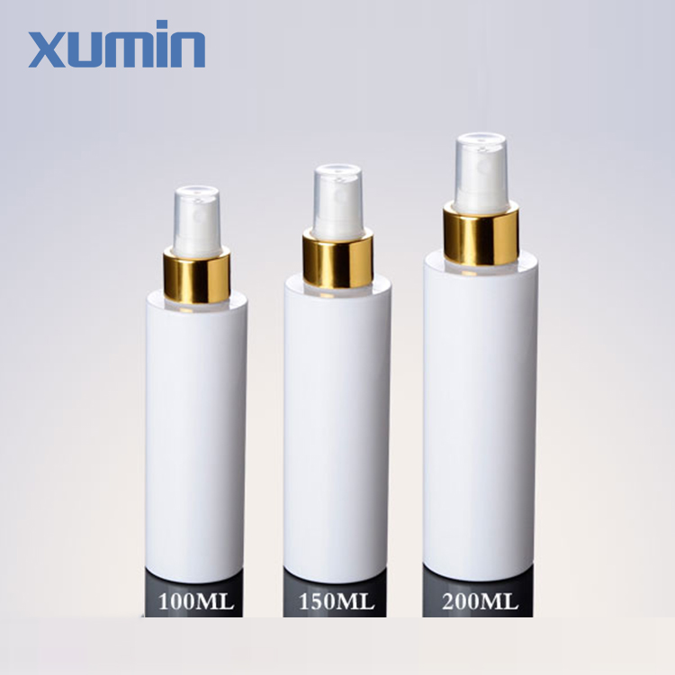 New Arrival White Spray Plastic Pet Bottle Golden Cap 100Ml 150Ml 200Ml Pet Bottle