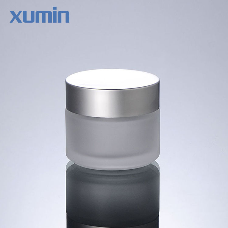 2020 Newest Frosted Glass Jar 50G Wholesale Green Glass Cosmetic Jar