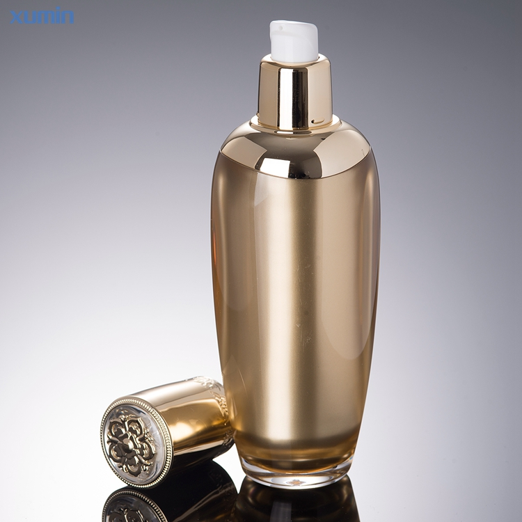 2019 New Arrival Golden Luxury design Acrylic Lotion Face Serum Bottle 15g 20g 30g 50g 30ml 50ml 100ml Fashion Acrylic Jar