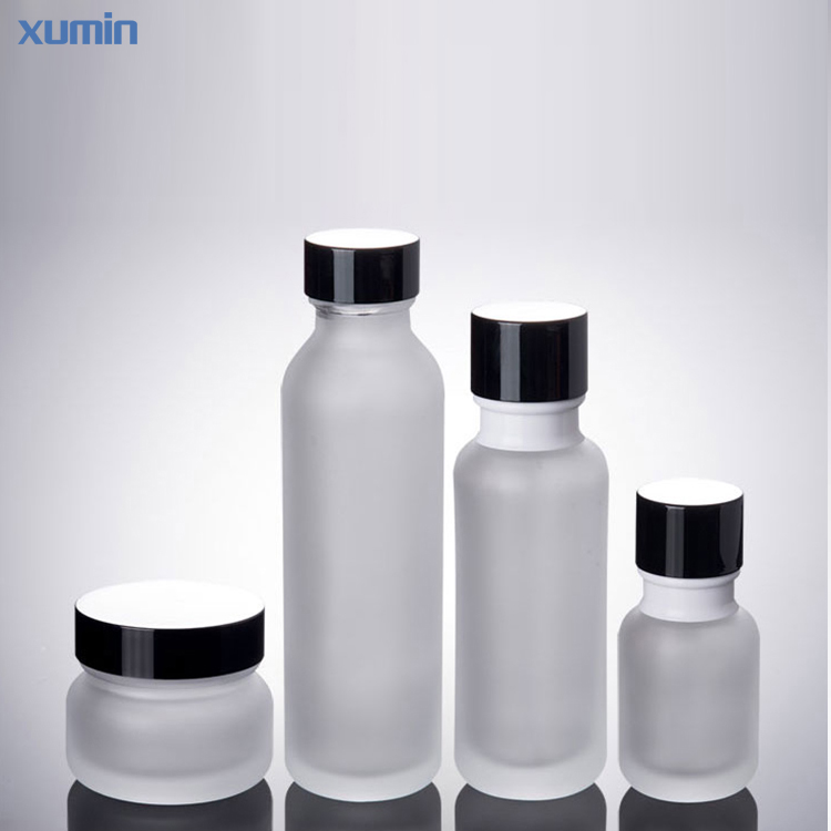 Wholesale price Hot Selling 50g 50ml 110ml 150ml Skin Cream Jar Frosted Glass Lotion Bottle