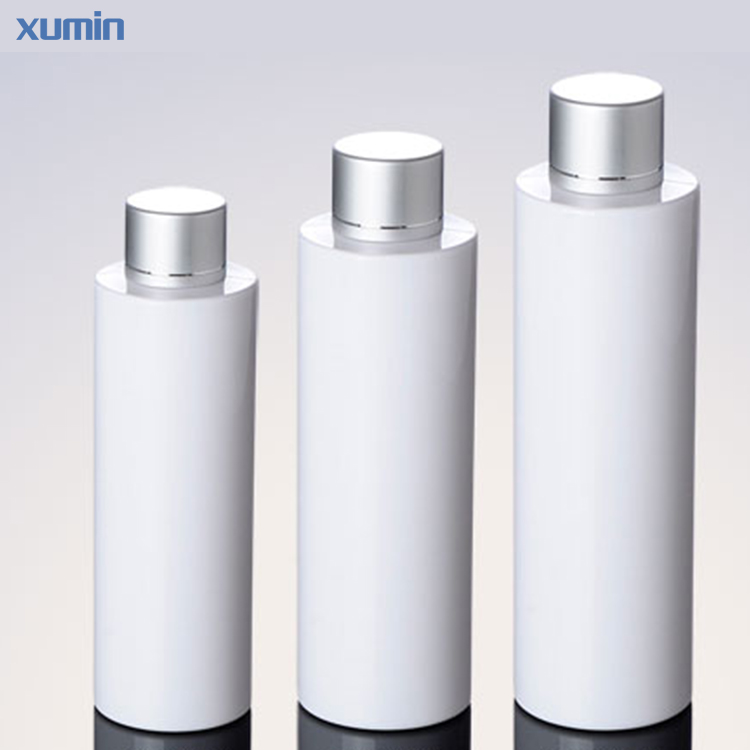 Doubler Stopper Design Aluminum Sliver Cap White Plastic Pet Bottle 100Ml 150Ml 200Ml Cosmetic Pet Bottle