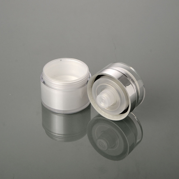 Trending High Class Packaging 15g 30g 50g cream Jar 15ml 30ml 50ml Acrylic Pump Bottle for lotion