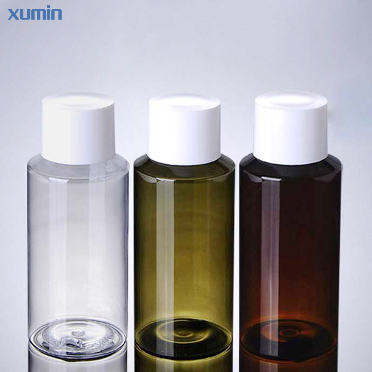 high quality white screw cap low price 150ml white green brown packaging cosmetic pet bottle