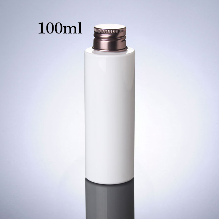 High Performance Cosmetic Pet Bottle Bronze Cover Cap 100Ml 150Ml 200Ml Pet Bottle