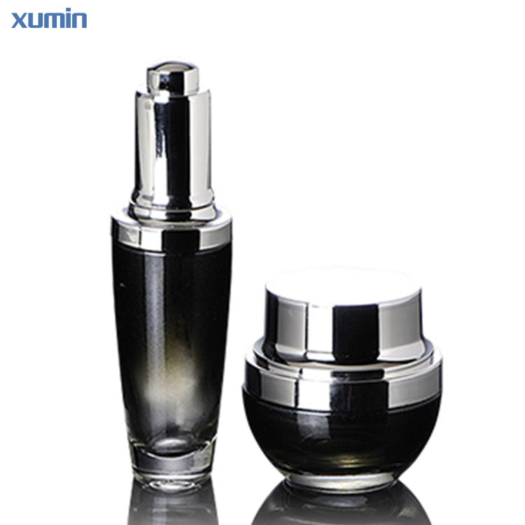 Luxury Push Button Wholesale Cosmetic Packaging cream container Serum Bottle