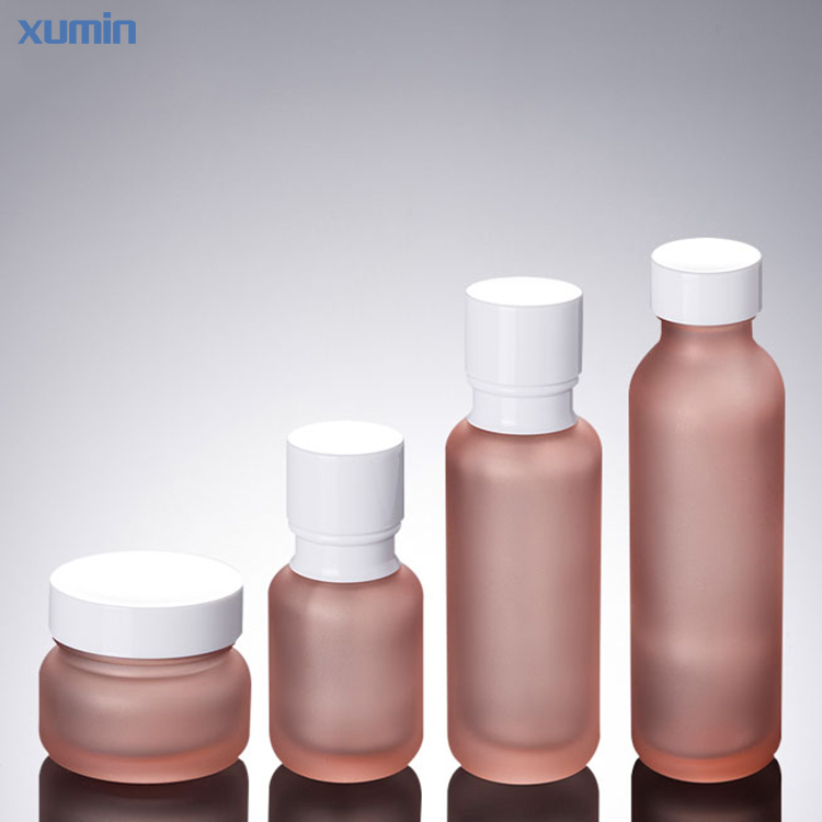 Newest Low Piece 50g 50ml 110ml 150ml Pump bottle cream jar Cosmetic Glass Bottle