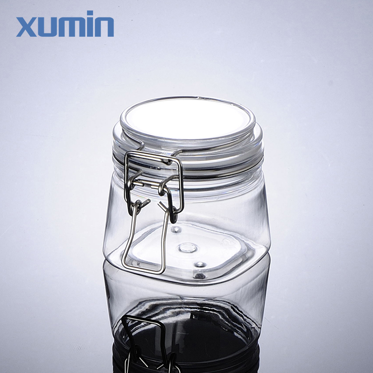 Fashionable design recycle 220g clear plastic cosmetic face mask jar