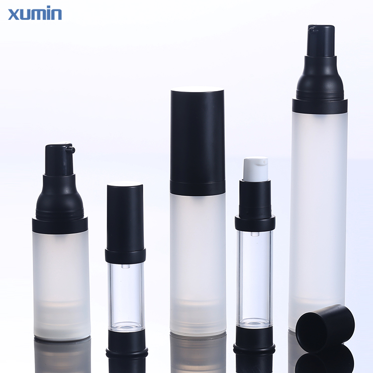 Hot stamping silkscreen printed PP 20ML 30ML 50ML skin care body packaging pp pump cosmetic airless pump bottle