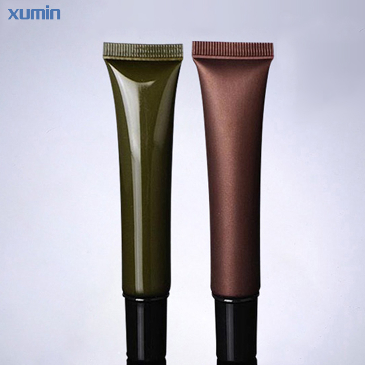 Fashion Sharp Mouth Design 20ML Packaging Cream Tube Green Amber Plastic Cosmetic Soft Tube