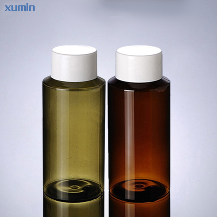 plastic bottle manufacture 150ml Transparent green brown cosmetic pet bottle