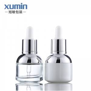 Wholesale white and clear 30ml pet glass bottle for 30ml dropper bottles