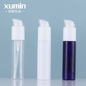wholesale cosmetic white plastic pet bottle 30ml cosmetic packaging with lotion bottle pump