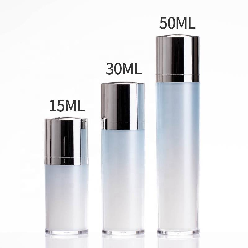 cosmetic packaging 15ml 30ml 50ml airless pump bottle with as material bottle body Featured Image