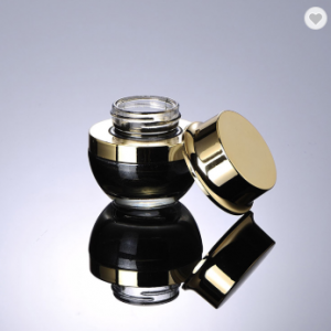 Luxury black cosmetic jar 20g 30g 50g glass jar for cosmetic cream