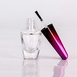 10ml nail polish glass bottle with brush lid