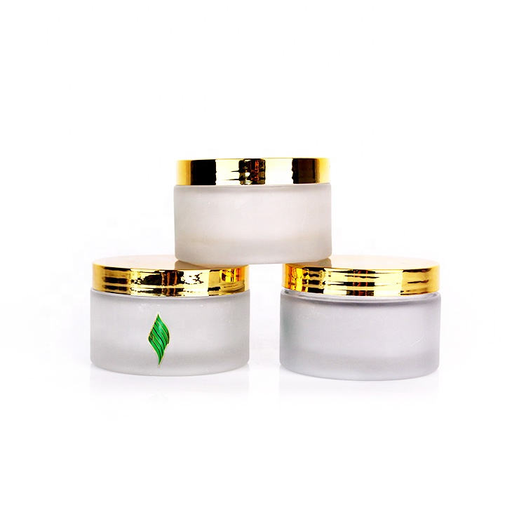200ml 200g round frosted glass cream cosmetic jar for mask Samples Ointments
