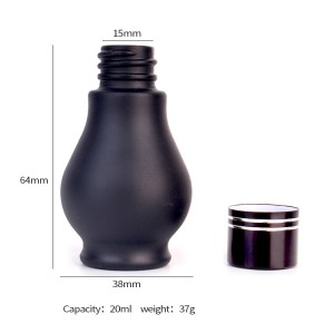 Hot sale 20ml  Matte Black Essential Oil Bottle with screw cap