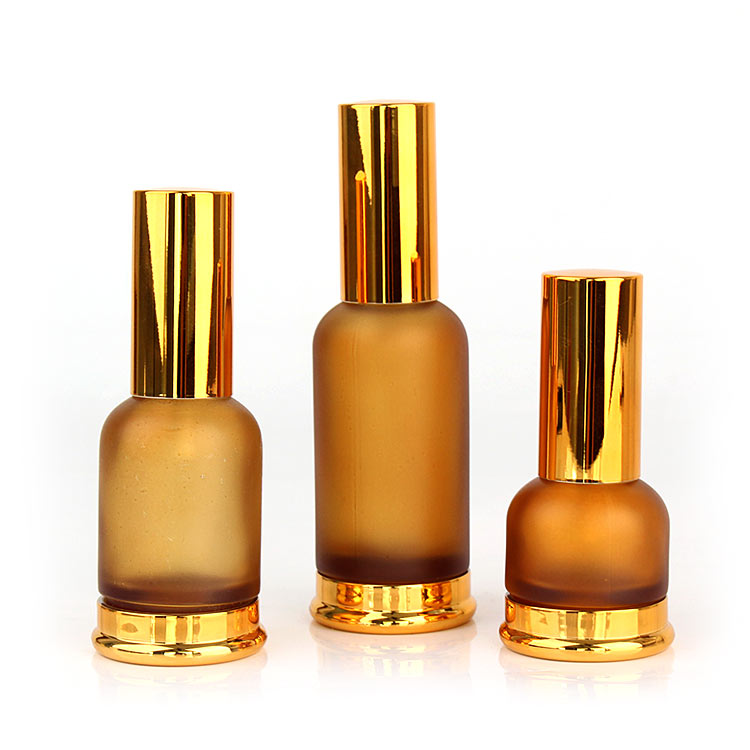Person care empty Luxury round amber frosted 20ml 30ml 50ml glass spray perfume bottle