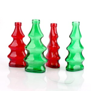 colorful Christmas essential oil glass bottle 300ml