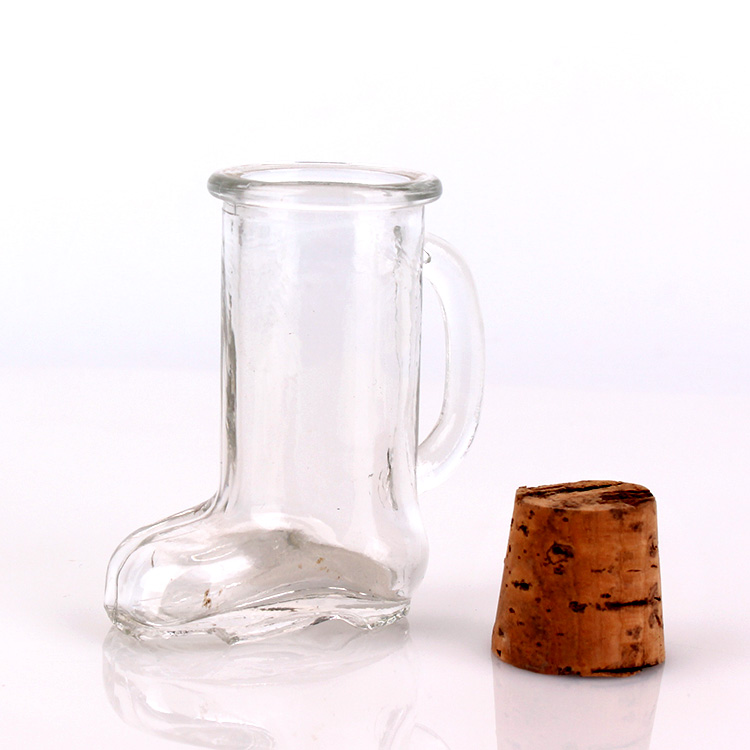 40ml mini size boot glass cup with cork Featured Image