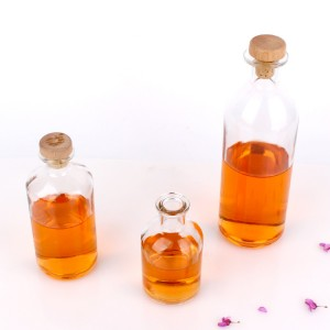 125ml 250ml 500ml round shape glass Reagent bottle with cork