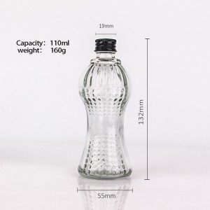 Wholesale 110ml  Juice Beverage liquor Glass Bottle With Metal Lid