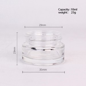 Hot Sale Small 10ml Cosmetic Glass Cream Jar with golden lid