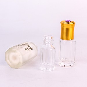 13ml small round essential oil aroma Essential Balm glass bottle with cap