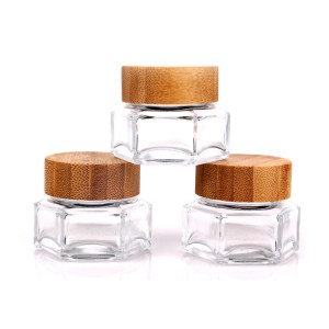 Big Discount Glass Water Bottle With Wood Lid -