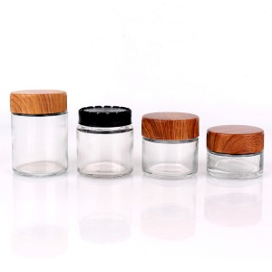 Custom cosmetic bottle glass jar cream cosmetic with cap