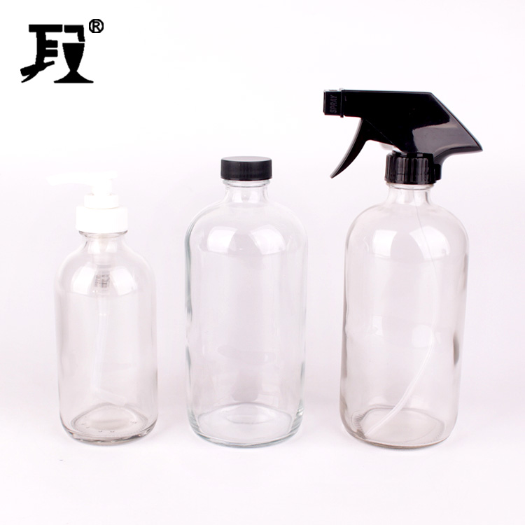 250ml 500ml 1000ml clear Empty Glass Spray Bottles with Trigger Sprayer pump