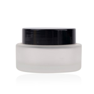 30ml round frosted glass jars with screw lid for skin care product