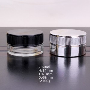 60ml eye cream glass with childproof lid