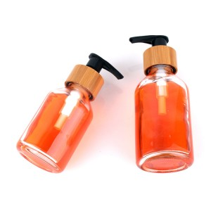 High quality Clear Glass Liquid Soap Dispenser with Pump