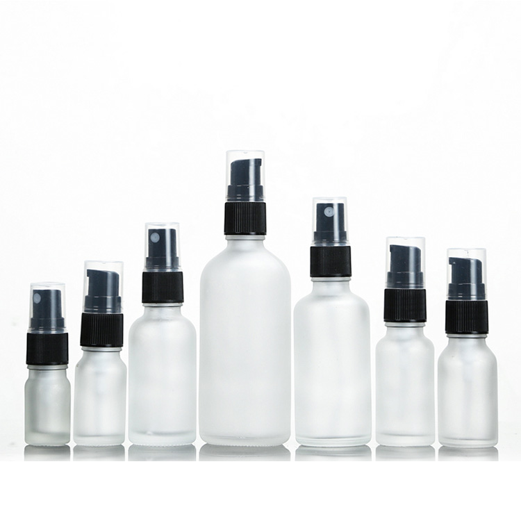 Portable 5ml 10ml 15ml 20ml 30ml 50ml 100ml Empty Fine Mist  glass Disinfection Alcohol perfume spray bottle