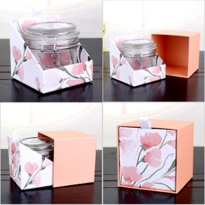custom design round candy glass jar clip lid glass jar
