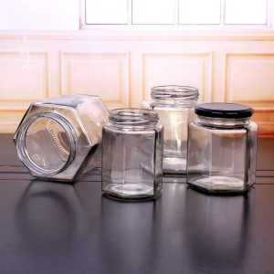 hexagon honey jar cheap glass jars wholesale with factory price