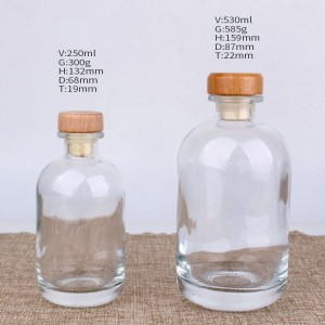 OEM Manufacturer Glass Hot Sauce Woozy Bottles -