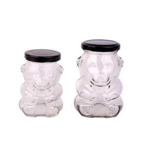 180ml 280ml lolli and pops bear glass candysweetlollipop jar