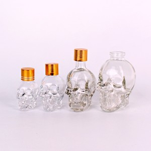 15ml 30ml 50ml 100ml skull shape essential oil aroma glass cosmetic bottle