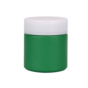 90ml 3oz round green glass storage jars with plastic cap for medicial powder pill